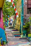 Kampung Pelangi en Semarang Indonesia Fotos de archivo