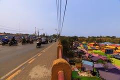 Kampung Warna Warni Jodipan Colourful Village Malang stock images