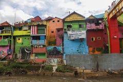 Kampung Warna Warni Kota Malang fotografía de archivo libre de regalías