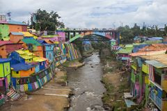 Kampung Warna Warni Kota Malang fotografia de stock