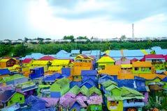 Kampung Warna Warni Malang стоковые фотографии rf