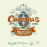 Kampusu rugby drużyny ikony i emblemat Fotografia Royalty Free