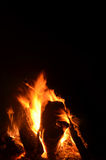 Kampvuurvlammen en sintels 6 Stock Foto's
