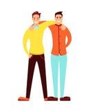 Kamratskap av vuxna män vektor illustrationer