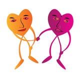 Kamratskap med förälskelse stock illustrationer