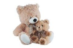 Kamratskap - två nallebjörnar Arkivbilder