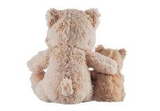Kamratskap - två nallebjörnar Arkivfoton