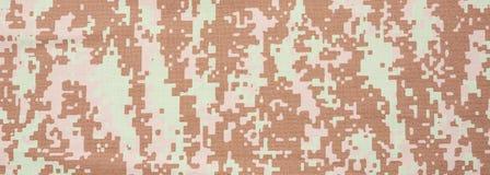 Kamuflaż tkaniny tekstury tło, sztandar, zbliżenie widok obraz stock