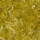 Kamuflaż z cieniami złoto, brąz i groszak, Bezszwowa mody camo tekstura Marmurowe chaotyczne linie royalty ilustracja