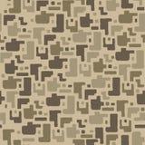 Kamuflażu deseniowy tło, bezszwowa wektorowa ilustracja Beż, brąz, ocher kolory dezerteruje teksturę royalty ilustracja