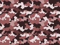 Kamuflażu deseniowy tło w brązie barwi, bezszwowy Militarnej mody abstrakcjonistyczna geometryczna tekstura ilustracja wektor