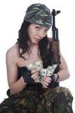 kamuflażu dziewczyny złodziej Zdjęcia Royalty Free