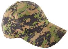kamuflażu cyfrowego kapeluszu odosobniony biel Zdjęcia Stock