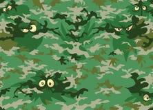 Kamuflażu lasu oczy Obrazy Royalty Free