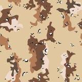 kamuflażu pustynny wojskowego wzór bezszwowy Obrazy Royalty Free