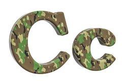 Kamuflażu wojska list C, 3D rendering Obrazy Royalty Free