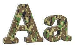 Kamuflażu wojska list A, 3D rendering Obrazy Royalty Free