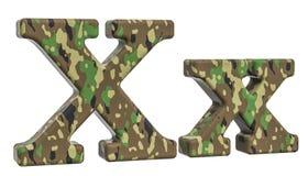 Kamuflażu wojska list X, 3D rendering Zdjęcia Royalty Free