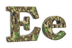 Kamuflażu wojska list E, 3D rendering Fotografia Royalty Free