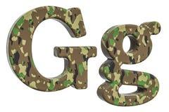Kamuflażu wojska list G, 3D rendering Obraz Stock