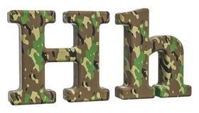 Kamuflażu wojska list H, 3D rendering Fotografia Royalty Free