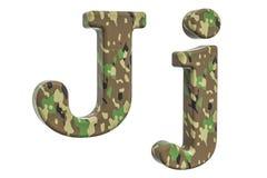 Kamuflażu wojska list J, 3D rendering Zdjęcie Stock