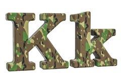 Kamuflażu wojska list K, 3D rendering Fotografia Royalty Free