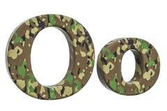 Kamuflażu wojska list O, 3D rendering Fotografia Royalty Free