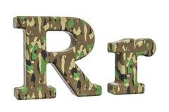 Kamuflażu wojska list R, 3D rendering Fotografia Stock
