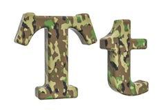Kamuflażu wojska list T, 3D rendering Obrazy Royalty Free