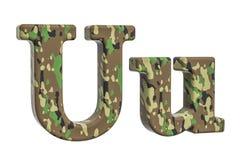 Kamuflażu wojska list U, 3D rendering Obraz Stock