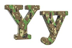 Kamuflażu wojska list Y, 3D rendering Fotografia Royalty Free
