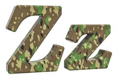 Kamuflażu wojska list Z, 3D rendering Obraz Stock