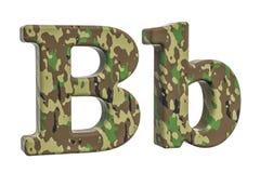 Kamuflażu wojska listu b, 3D rendering Obrazy Royalty Free