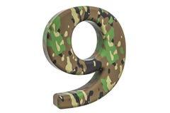Kamuflażu wojsko liczba 9, 3D rendering Fotografia Royalty Free