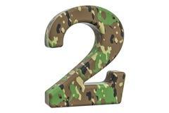 Kamuflażu wojsko liczba 2, 3D rendering Zdjęcie Stock