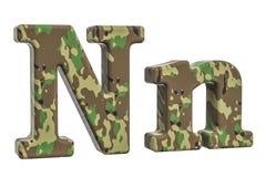 Kamuflażu wojsko listowy N, 3D rendering Zdjęcie Royalty Free