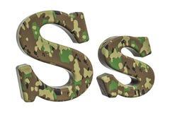 Kamuflażu wojsko listowy S, 3D rendering Obrazy Royalty Free