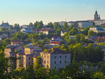 Kamyanets-Podilsky老镇的看法  库存图片