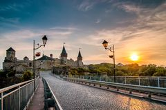 Kamyanets-Podilsky Ukraine. Summer 2015. Road to  castle in  sum Stock Photo