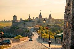 Kamyanets-Podilsky Ukraine Vue de l'été 2015 de la forteresse dedans Photographie stock