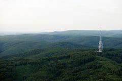 Kamzik TV transmission tower in Bratislava, Slovakia. Aerial view of Kamzik TV transmission tower in Bratislava, Slovakia Stock Photo