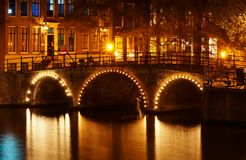 Kanäle in Amsterdam lizenzfreies stockfoto
