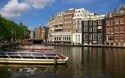 Kanäle in Amsterdam Stockbilder