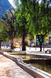 Kanäle Avenida Jimenez Bogota Kolumbien Lizenzfreie Stockfotos