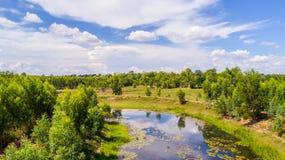Kanäle in der Landschaft Lizenzfreie Stockfotos