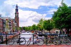 Kanäle von Amsterdam Stockfoto