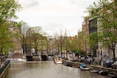 Kanäle von Amsterdam Lizenzfreies Stockfoto