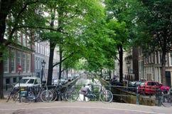 Kanäle von Amsterdam Lizenzfreies Stockbild