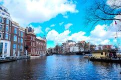 Kanäle von Amsterdam Stockbild